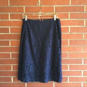 Ruby Ribbon Navy Lace Skirt L